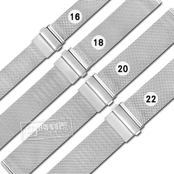 Watchband / 16.18.20.22mm / DW代用 各品牌通用 透亮 輕巧耐用 米蘭編織不鏽鋼錶帶 金色
