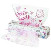 asdfkitty可愛家☆KITTY盒裝塑膠袋-40入-點心袋/包裝袋-裝麵包.餅乾.糖果-20*30公分-日本正版商品