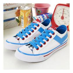 PONY 經典帆布鞋 Shooter--白藍紅 22U1T11SW--女 6折零碼好康