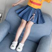 夏季小孩女童牛仔包臀裙超短裙中大童裝女孩半身裙 全館免運
