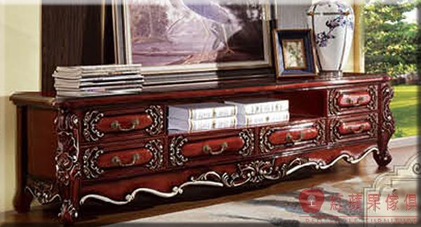[紅蘋果傢俱] 932 新古典系列 實木雕花 歐式 法式 奢華 電視櫃 TV櫃 工廠直營