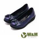 【W&M】閃亮水鑽厚底娃娃鞋 女鞋-藍(另有黑)