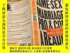 二手書博民逛書店Same-Sex罕見Marriage: Pro and Con