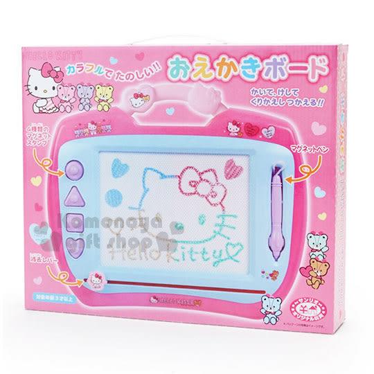 〔小禮堂〕Hello Kitty 可提式磁性畫板《粉藍.彩虹熊.盒裝》塗鴉板.繪圖板.寫字板 4901610-00444
