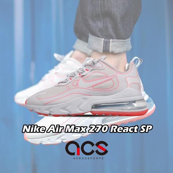 【四折特賣】Nike 休閒鞋 Air Max 270 React SP 灰 粉紅 男鞋 大氣墊 運動鞋 【ACS】 CQ6549-100