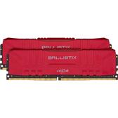 Micron 美光 Crucial 超頻 E-Die Ballistix DDR4 3200 紅 64GB (32G*2) 桌上型電腦 記憶體 BL2K32G32C16U4R