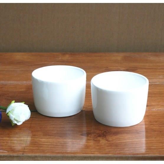 極白小圓形陶瓷多肉植物花盆盆栽 CARMO【BI10006】