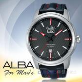 ALBA 雅柏 手錶專賣店   AV3531X1 石英男錶 皮革錶帶 灰 防水100米 日期顯示 全新品