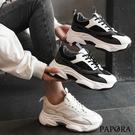 PAPORA輕量休閒懶人厚底老爹布鞋KQ2955黑/米(偏小2碼)