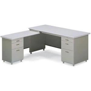 L型辦公桌(附三抽式側邊桌)160x70x74cm S1-51017014