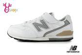 New Balance 996 中大童 慢跑鞋 摩登復古 寬楦 輕量運動鞋 O8477#白色◆OSOME奧森鞋業