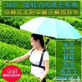 採茶傘 可背式太陽傘 戶外遮陽抱看小孩雙肩防曬采茶娃以的抖音神器專用 YXS街頭布衣