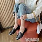 一腳蹬皮鞋【軟皮】新款英倫小皮鞋百搭時尚平底單鞋一腳蹬休閒女鞋樂 快速出貨