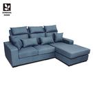 【多瓦娜】安哥拉貓抓皮L型沙發-751~753型-3P+ST L型沙發