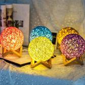 七夕臥室小夜燈插電床頭燈創意夢幻喂奶生日禮物led節能充電臺燈 免運直出交換禮物