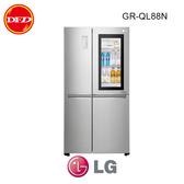 樂金LG GR-QL88N 冰箱 InstaView™ 敲敲看門中門冰箱 星辰銀 / 820公升 ※運費另計(需加購)