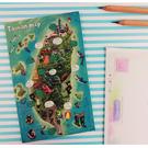 【收藏天地】插畫明信片★立體明信片-黑熊地圖/ 送禮 旅遊紀念