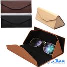 眼鏡盒 折疊 3D立體三角型長方摺疊收納...
