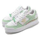 adidas 休閒鞋 Forum Bold W 白 綠 金 厚底增高 跳舞鞋 女鞋 【ACS】 FY5117