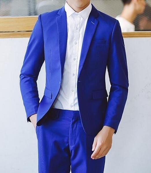 FINDSENSE品牌 韓國男 兩件式西裝外套 成套西裝 修身西裝 西裝外套 外