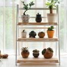 限定款花架實木質落地客廳多層摺疊 堆疊式...