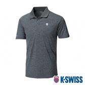 K-SWISS Small Neon Logo Polo排汗POLO衫-男-灰