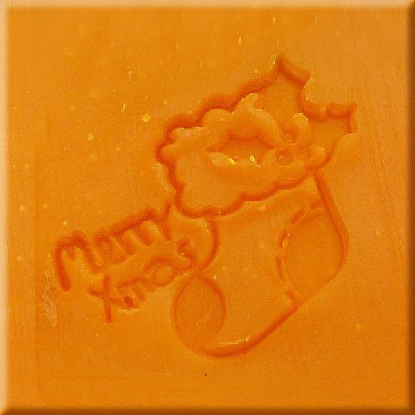 【香草工房】 風格皂章~MB007聖誕禮物襪