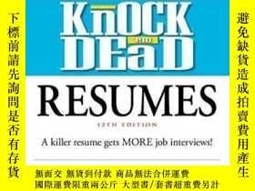 二手書博民逛書店Knock罕見 em Dead Resumes-敲死他們的簡歷Y436638 Martin Yate Cpc