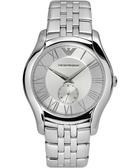 Emporio Armani 亞曼尼 Classic 羅馬時尚小秒針手錶-銀 AR1788