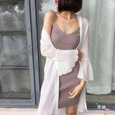 八八折促銷-夏裝新品潮雪紡上衣泰國度假中長版喇叭袖防曬衫女開衫沙灘服