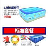 充氣游泳池超大號兒童充氣游泳池家用成人嬰兒寶寶家庭洗澡池小孩加厚戲水池igo 曼莎時尚