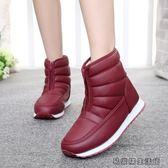 冬季媽媽鞋棉鞋中老年雪地靴