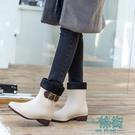 雨鞋果凍加絨成人純色保暖雨靴膠鞋防水鞋防滑韓國學生女短筒
