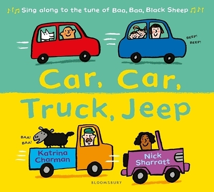 Car,Car,Truck,Jeep 汽車碰碰跳平裝繪本