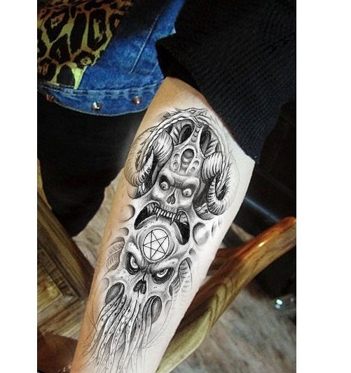 薇嘉雅   環臂圖案紋身貼紙 AX107