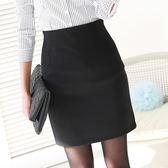 2018高腰彈力包臀裙半身裙包裙女夏一步裙短裙OL職業裙西裝裙西裙 晴光小語