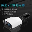郵寄免運 LED數顯帶低電壓蜂鳴報警車載充電器 智慧多功能雙USB電壓監測手機車充