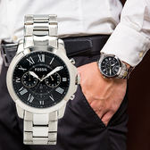FOSSIL GRANT 自信時代旗艦三眼經典腕錶 FS4736 熱賣中!