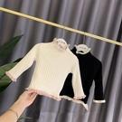 兒童毛衣 加絨毛衣兒童針織衫女寶寶百搭高領打底衫嬰兒洋氣冬裝上衣【快速出貨超夯八折】