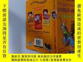 二手書博民逛書店A罕見TRIPLE TREAT OF HORRID HENRY 3 Books in 1:三重款待可怕的亨利三本書