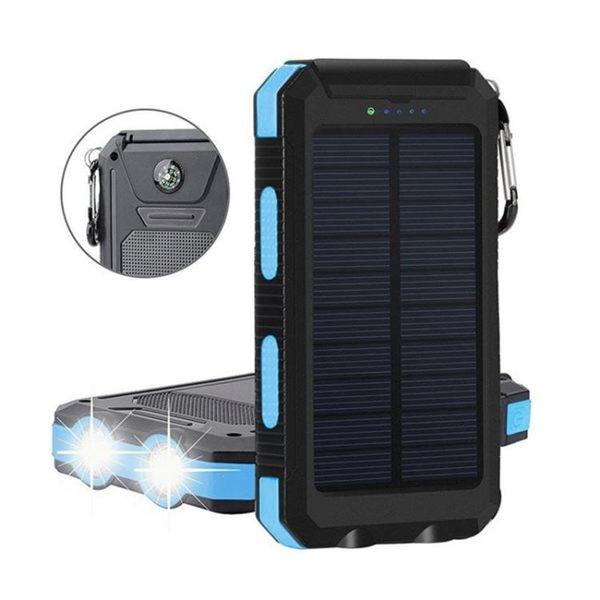 【超值價$499】雙大燈太陽能行動電源50000mAh 露營商務20000mAh通用型手機充電寶