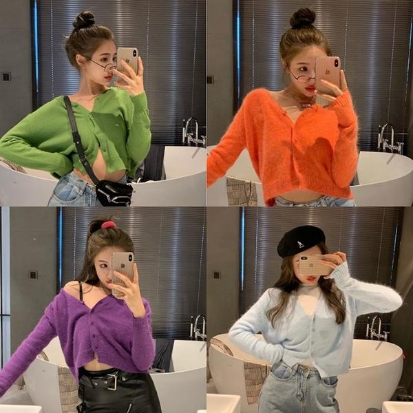 韓國IG熱門款春夏季新款超炫的顏色短款百搭顯瘦洋氣時髦外套『居享優品』