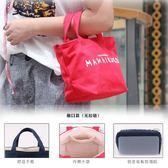 韓式簡約飯盒袋手拎布袋子裝飯盒的手提包防水保溫午餐便當包帆布
