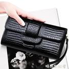 手包女手拿包2020新款時尚韓版鱷魚紋牛皮百搭手機包氣質長款錢包「時尚彩紅屋」