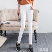 中大尺碼長褲 新款牛仔褲女淺色休閒褲女褲韓版彈力緊身小腳鉛筆褲 QG6661『優童屋』