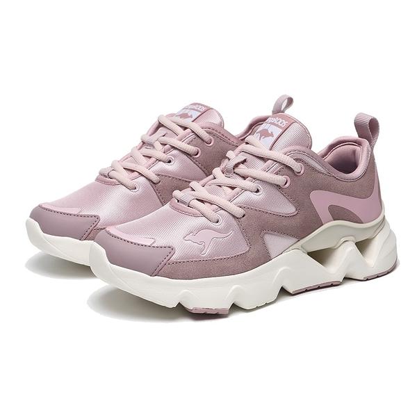 KANGAROOS 休閒鞋 GROOVE II 粉紫 拼接 增高 老爹鞋 女 (布魯克林) KW11263
