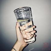 金邊玻璃杯子水杯女家用啤酒創意簡約清新【櫻田川島】