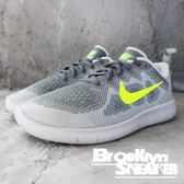 Nike FREE RN 2017 GS 灰綠 編織 慢跑 女 (布魯克林) 904255-004