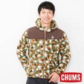 CHUMS 日本 男 Fleece Elmo 兜帽外套 腳掌迷彩 CH041078Z086