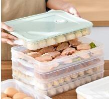 餃子盒 餃子盒凍餃子家用速凍水餃盒混沌盒冰箱雞蛋保鮮收納盒多層托盤【快速出貨八折下殺】